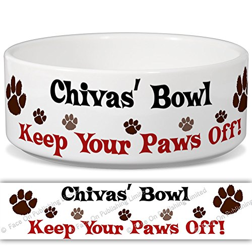 chivas-bowl-keep-your-paws-off-personalised-name-ceramic-pet-food-bowl-155mm-x-60mm-small