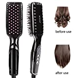 ACEVIVI Hair Straightener Brush 2 in 1 Anion Hair Care and Ceramic Heating