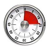 Yuccer Küchenuhr Elektronischer Time Timer Küchentimer Kochen Timers Kitchen Wecker Kurzzeitmesser Magnetisch Edelstahl Alarm Clocks Wanduh für die Küche (Schwarz)