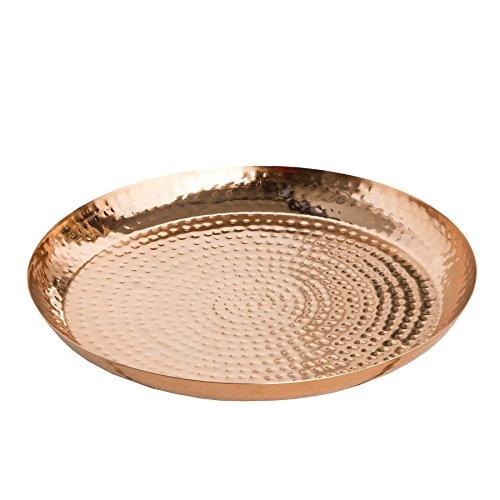 Invicta Interior Marrakesch Orient-Cuenco Decorativo 40cm Metal de Cobre Martillado Cuenco Decorativo decoración Accesorio