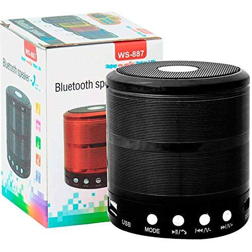 XRIS WS-887 Mini Bluetooth Speaker with FM Radio, Memory Card Slot, USB Pen Drive Slot, AUX Input Mode (Black)