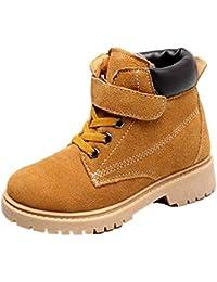 2020 Botas de Nieve para niños de Invierno niños y niñas Gamuza cómoda y Calidez de Terciopelo Zapatos Deportivos Planos Antideslizantes Zapatos Casuales para Exteriores Zapatos para niños pequeños