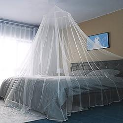 Sekey Moustiquaire pour Lits Simples à Doubles   Protection de d'insecte   Écran de Protection Anti-Insectes   Système d'installation Rapide et Facile