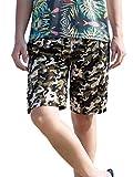 Calzoncini da Spiaggia da Mare da Surfe Uomo Pantaloncini da Bagno Costume da Bagno Bermuda Boxer Outdoor Casual da Nuoto Pantaloni Corti Asciugatura Veloce Esitivi - Camouflage - Verde - Taglia M