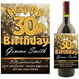 Personalised WINE BOTTLE LABEL ~ Happy Birthday Gift Idea N10