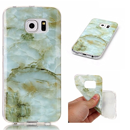 Lomogo [Marble Pattern] Galaxy S6 Edge Case Shockproof Anti-Scratch Silicone Case Cover for Samsung Galaxy S6 Edge