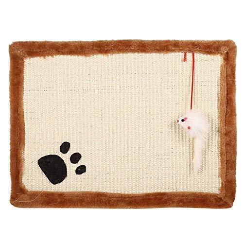 Gattino gatto tiragraffi graffiare la formazione sisal post artigli tappetino Pad cuscino con giocattolo