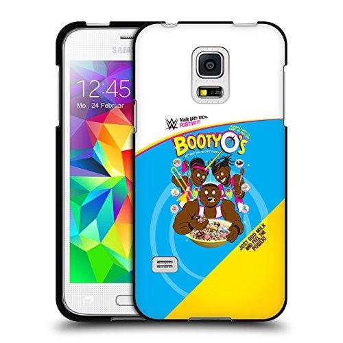 Head Case Designs Offizielle WWE Booty O's The New Day Soft Gel Hülle Schwarz für Samsung Galaxy S5 Mini (Schwarz Soft Booties)