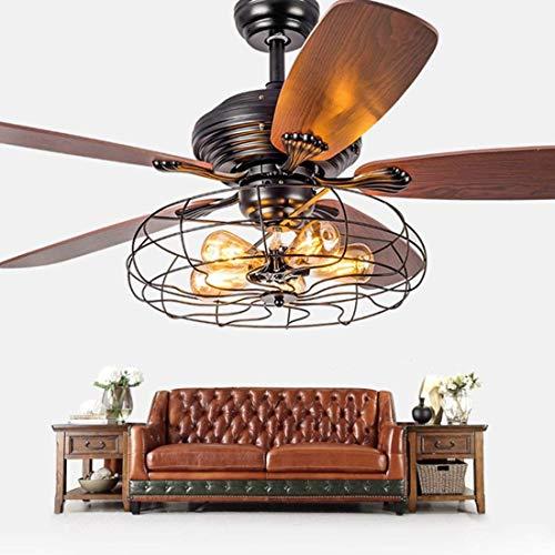 Ventilador industrial Lámpara de techo con luz colgante Semi al ras en...
