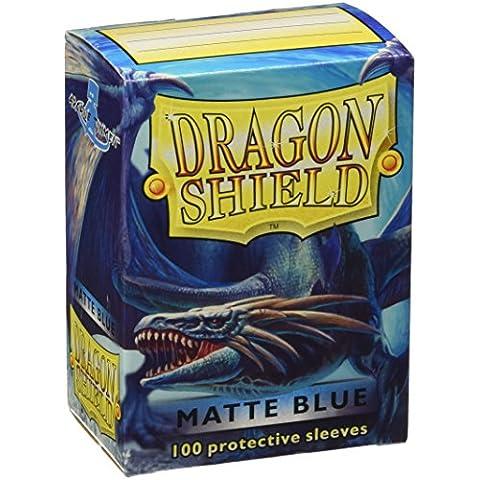 Arcano Tinmen AT-11003 - accesorios TCG - Escudo Dragón titulares de tarjeta estándar, 100, alfombra azul
