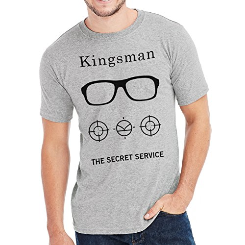 The Kingsman The Secret Service All Black And White Poster Herren T-Shirt Grau