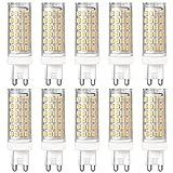 DASKOO 10-er Pack Flimmerfrei G9 12W = 95W LED Licht Keramik + PC Kaltweiß 76X2835 SMD AC 220-240V