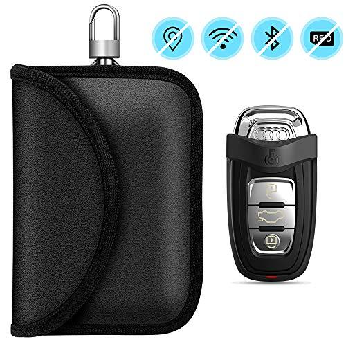 toschlüssel, RFID Auto Funkschlüssel Schlüsseltasche Schlüsseletui Faraday Bag Schlüsseltasche Abschirmung Keyless Blocking Auto Blocker für keyless Schutzhülle Car Key Safe ()