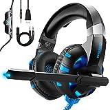 Auriculares Gaming para PS4 Xbox One o PC con Micrófono y Luz LED,...