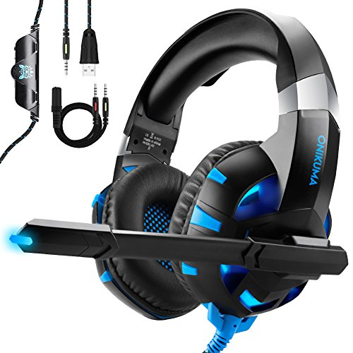 Auriculares Gaming para PS4 Xbox One o PC con Micrófono y Luz LED, Au