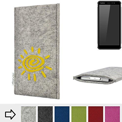 flat.design Handy Hülle für Ruggear RG850 FARO mit Sonne Filz Schutz Tasche Etui Made in Germany fair