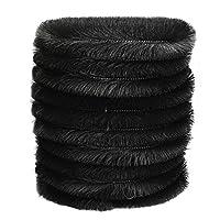 Selections Set of 10 x Black Gutter Brush Leaf Guard (4m)