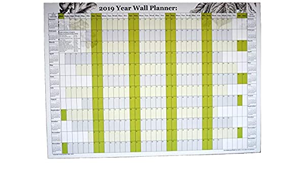 2020 Yearly Planner Colourful Chart Calendar Wall ChartA4 A3 A2 A1