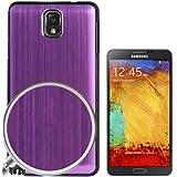 Rocina Brushed Case Backcover für Samsung N9000 Galaxy Note 3 III in metallic lila