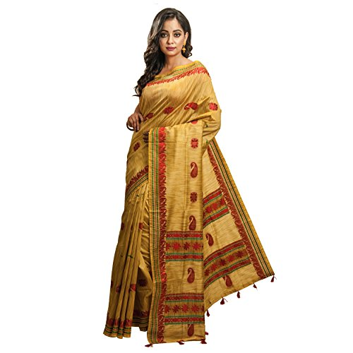 Avik Creations Women\'s Art Silk Saree With Blouse Piece (Ac701_Yellow)