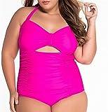 SHUNLIU Möllige Damen Badeanzug Damen Strand Schwimmanzug Kräftige Frauen Figurformend Bauchweg Schwimmanzug Badekleid in Großem Größe Gr.xxl-5xl