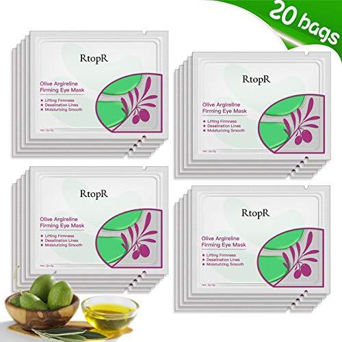 Pudincoco Natural Olive Collagen Mujeres Cuidado de los ojos Máscaras de ojos Hidratante antiarrugas Eliminar Black Circles Eye Bag Eye Patches (verde)