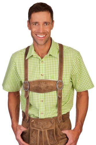 H1209 - Trachten Herren Hemd mit 1/2-Arm Apfel