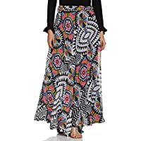 Styleville.in Polyester a-line Skirt (SSKF350343_Multicolor_S)