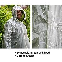 Abrigos de visita de polietileno, capa de protección contra la lluvia empaquetable para bolsa ultraligera