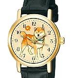 Shiba Inu Schönes Vintage japanische Hochformat Hund Art Collectible 30mm Messing Armbanduhr