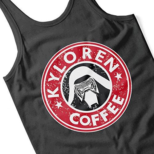Kylo Ren Coffee Starbucks Logo Star Wars Women's Vest Black
