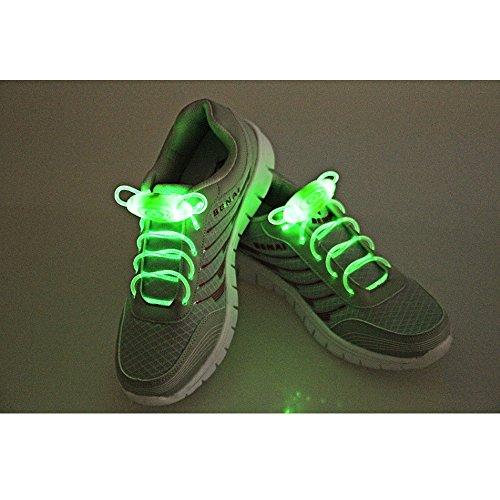 Eastlion LED Schnürsenkel Leuchten Flash-Glühen-Stock-Strap mit 3 Modi für Disco, Tanzen, Cosplay Blau