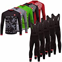 Uglyfrog 2018 Nuevo De Invierno Mantener caliente Manga Larga Maillot Ciclismo Hombre Bodies +Long Bib Pant with Gel Pad Winter Style