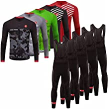 Uglyfrog 2017 Nuevo De Invierno Mantener caliente Manga Larga Maillot Ciclismo Hombre Bodies +Long Bib Pant with Gel Pad Winter Style