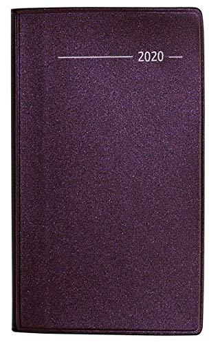 ic rot 2020 - Bürokalender - Taschenplaner (9,5 x 16) - 32 Seiten - mit Registerschnitt - separates Adressheft - Terminplaner ()