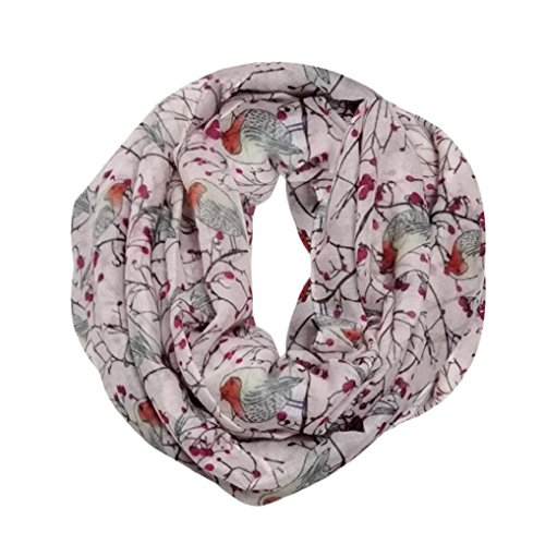 Women Men Scarf, Hirolan christmas decorations sale clearance novelty Winter Warm Outdoor Thermal Warmth Snood Neck Warmer Wrap Shawl neck warmers voile scarves for women Cute Bird Print Soft Scarves