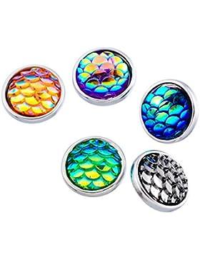 Souarts Gemischte Runde Click Button 4.5mm Druckknöpfe Set 10 Stücke