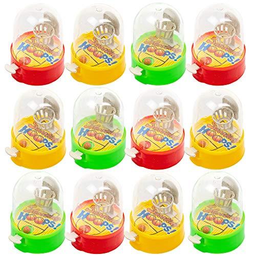 24 Juegos de Lanzar Baloncesto con el dedo de Escritorio - Un entretenimiento familiar portátil y que reduce el estrés, ideal para los juguetes de fiesta para niños.