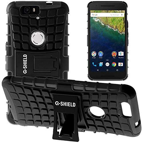 G-Shield Hülle für Google Nexus 6P Stoßfest Schutzhülle mit Ständer - Schwarz