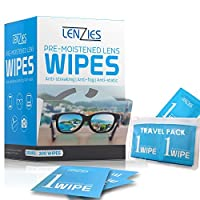 Lenzies Lens Wipes PreMoisten and Disposable. Glasses, Camera, iPad. 200ct.