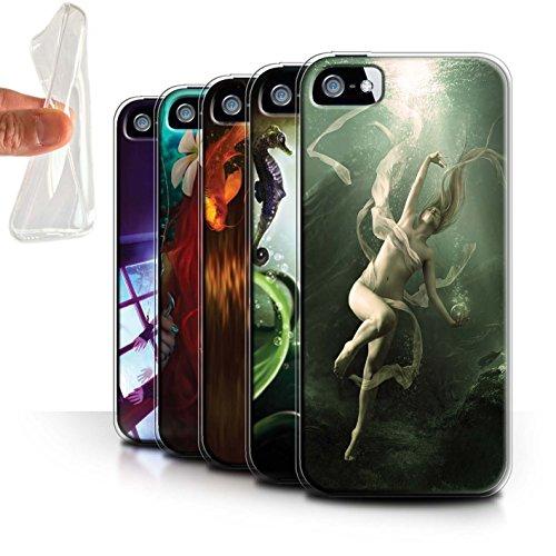 Officiel Elena Dudina Coque / Etui Gel TPU pour Apple iPhone SE / Laisse Moi Entrer Design / Agua de Vida Collection Pack 7pcs