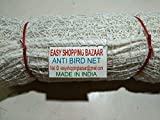 #5: EASYSHOPPINGBAZAAR Anti Bird NETS with Strong Nylon Strings White in Colour(Clips and Ropes for Tying Include)