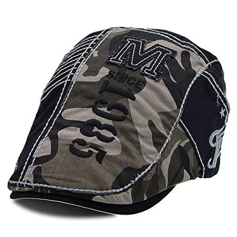 Coton unisexe Télévision Beret Hat ivy gavroche cap - UPhitnis la conduite de taxi chasse Cap(camouflage gris)