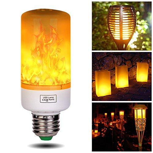 g Led Flamme Lampe Flackerlicht E27 5W Flimmer Feuer Birne 1300K Leuchtmittel LED Bulb Kreative Lichter Dekorative Leuchte für Hause, Garten, Bar, Party, Hochzeit, Weihnachten Dekor (Weihnachten Garten Dekor)