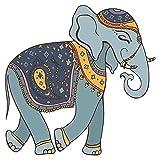 Wandtattoo Indien Wandtattoo Elefant im Gewand mit Schmuck