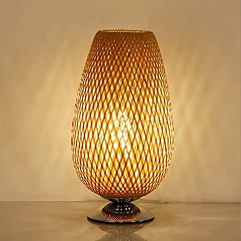Simple and warm bamboo decorative table lamp 43cm * 28cm
