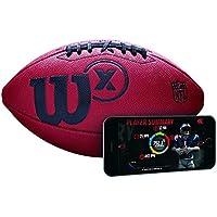 Wilson American Football mit Sensor zur Trainingsaufzeichnung per App, braun, Wilson X Connected