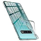 Spigen Coque Samsung S10 Plus [Liquid Crystal] Premium TPU, Ultra Mince, Absorption du Choc, Transparente, Souple, Coque Compatible avec Samsung Galaxy S10 Plus - Crystal Clear