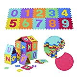 HOMCOM 36PC Soft Play Mat Kids Baby Children Interlocking EVA Foam Puzzle Indoor Outdoor Floor Gyms