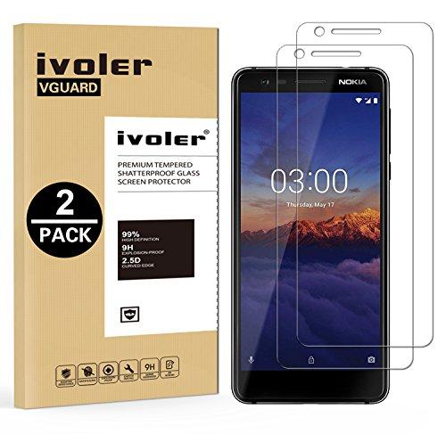 iVoler [2 Pack] Pellicola Vetro Temperato per Nokia 3.1 / Nokia 3 2018 [Garanzia a Vita], Pellicola Protettiva, Protezione per Schermo